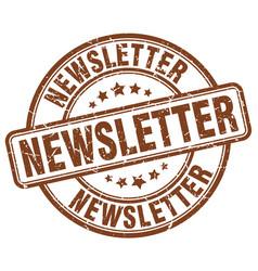 Newsletter stamp vector
