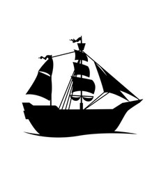pirate boat ship vector image vector image