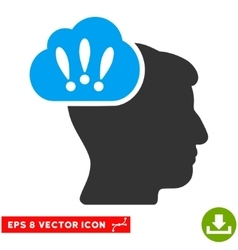 Problem brainstorm eps icon vector