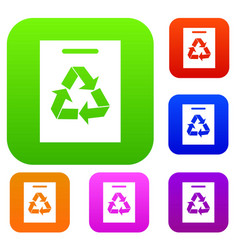 recycling set collection vector image