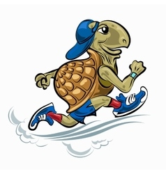 Running turtle vector