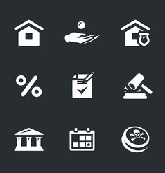 Set of mortgage icons vector