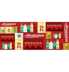 Travel and tourism design elements - amsterdam vector