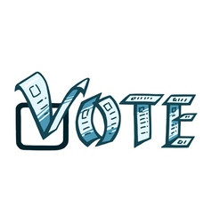 vote or voting vector image vector image