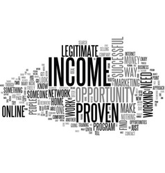 why it is important to have a proven income vector image vector image
