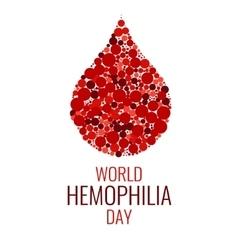 World hemophilia day design template vector