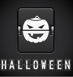 Scoreboard halloween sign of the designer vector