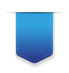 Empty blue ribbon isolated vector