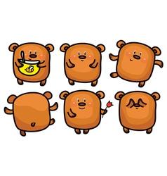 brown bear set vector image