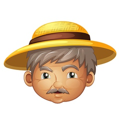 Cartoon hat old man vector