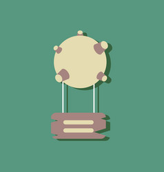 Flat icon design collection satellite base in vector