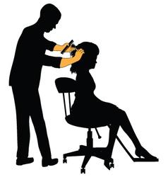 Female hairdresser vector