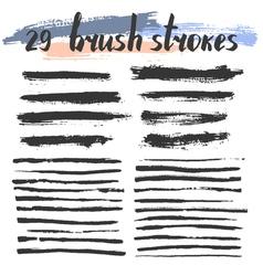 29BrushStrokes vector image vector image