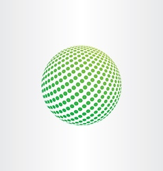 Green eco globe ball icon vector