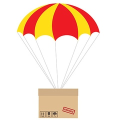 Package with parachute vector