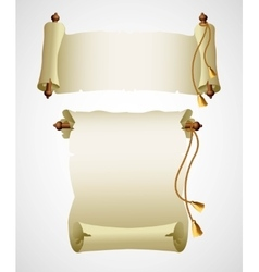 Vertical old scroll paper vector