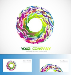 Abstract circle logo vector