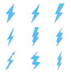 Set of thunder lighting icons vector