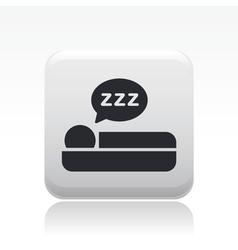 sleep icon vector image