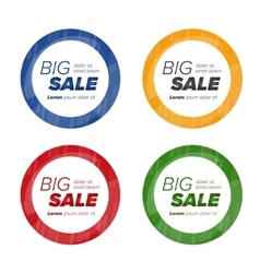Big sale circle stickers vector
