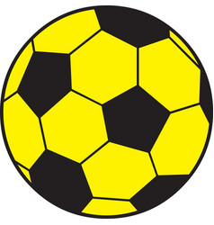 Yellow soccer ball vector