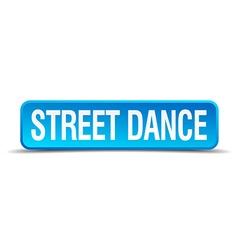 Street dance blue 3d realistic square isolated vector