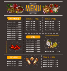 a menu with a special offer vector image vector image