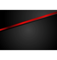 Abstract black corporate background with red vector image vector image