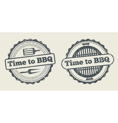 Barbecue and grill label steak house restaurant vector