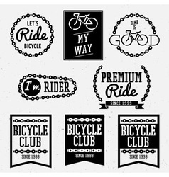 bicycle club bw vector image vector image