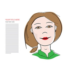 Business woman with sample text vector