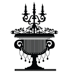 candelabra silhouette vector image vector image