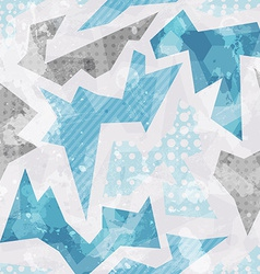 Cold color geometric seamless pattern vector