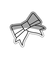 decorative ribbon bow vector image vector image