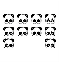 emoticon panda regular vector image vector image