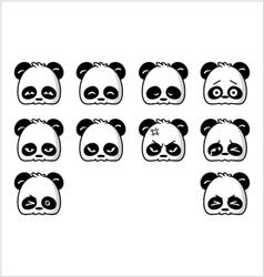 Emoticon panda regular vector