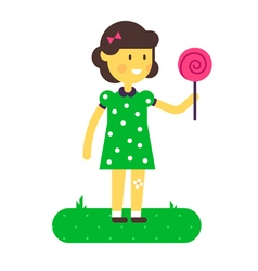 Girl Lollipop vector image