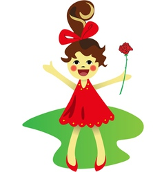 Girl with rose vector image