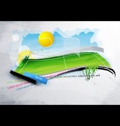 grunge tennis banner vector image vector image