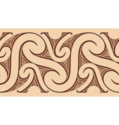 Maori tattoo pattern vector image vector image