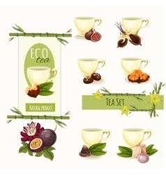 Oriental sweets set vector