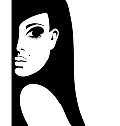 silhouette of a woman vector image vector image