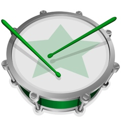 Small green drum vector image vector image