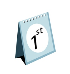 Standing Calendar on A White Background vector image