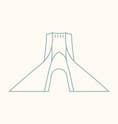 Tehran vector image vector image