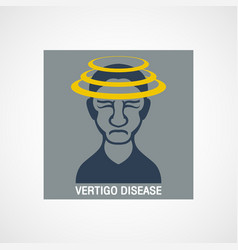 Vertigo disease logo icon design vector