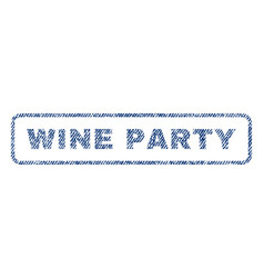 Wine party textile stamp vector