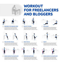 Workout for freelancers and bloggers vector