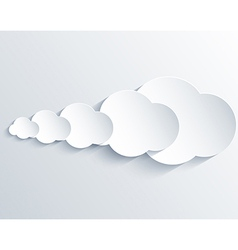 cloud design element with place for your text vector image