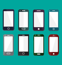 smartphone flat icons vector image